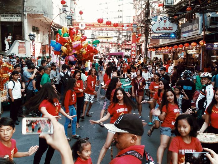 Crowd Group Of People Large Group Of People Real People Arts Culture And Entertainment Leisure Activity Mobilephotography Eyeem Philippines Streetphotography Chinesenewyears Streetphotography Colors Adventures In The City