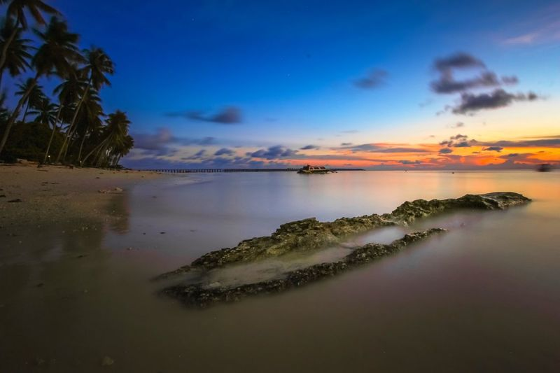 Broke Long Exposure Maratua Island EyeEm Best Shots EyeEm Selects Sky Water Beauty In Nature Beach Sea Scenics - Nature Cloud - Sky Sunset Tree Coconut Palm Tree Palm Tree
