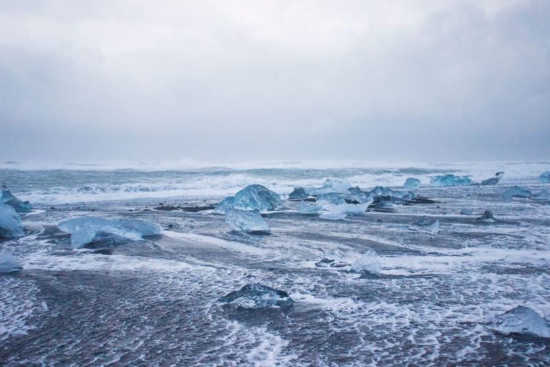 Jokursarlon Glacier Beach, Iceland.
