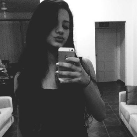 Black And White Good Night Girl Me