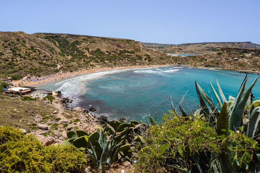 Cactus Hotels Malta Vacations Beauty In Nature Blue Blue Water Bluse Sea Clear Sky Day Golden Bay Lake Landscape Maltaphotography Maltese Mountain Nature No People Outdoors Physical Geography Plant Scenics Sky Tranquil Scene Tranquility Travel Destinations Troy Turism Water Waves