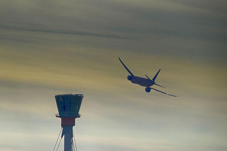 A plane leaving