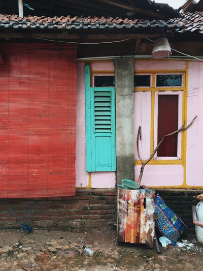 INDONESIA Island Life Pink Rural Architecture Building Building Exterior Built Structure Colorful Day House Island No People Outdoors Shutter Street Turqoise Wooden