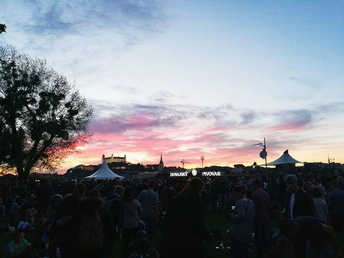 Bratislava, Slovakia Majales 2017 Festival Castle Sunset