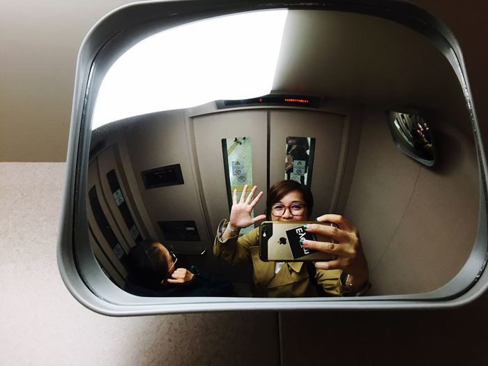 Notes From The Underground | Mirrorselfie In The Lift | EyeEm Sticker | Oh Hai Dere 😁 See Kansai Through Ems IPhone