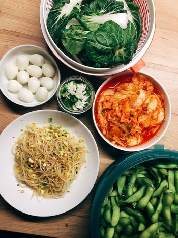 Ramen Night Vegetable Cooking Kitchen Asian Foods Korean Food Korean Food And Drink Vegetable Food Healthy Eating Indoors  Bowl Freshness No People Ready-to-eat Plate