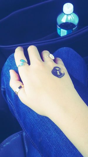 Fake Tattoos Purple! Tattooo ♥ Shiny Rings!!