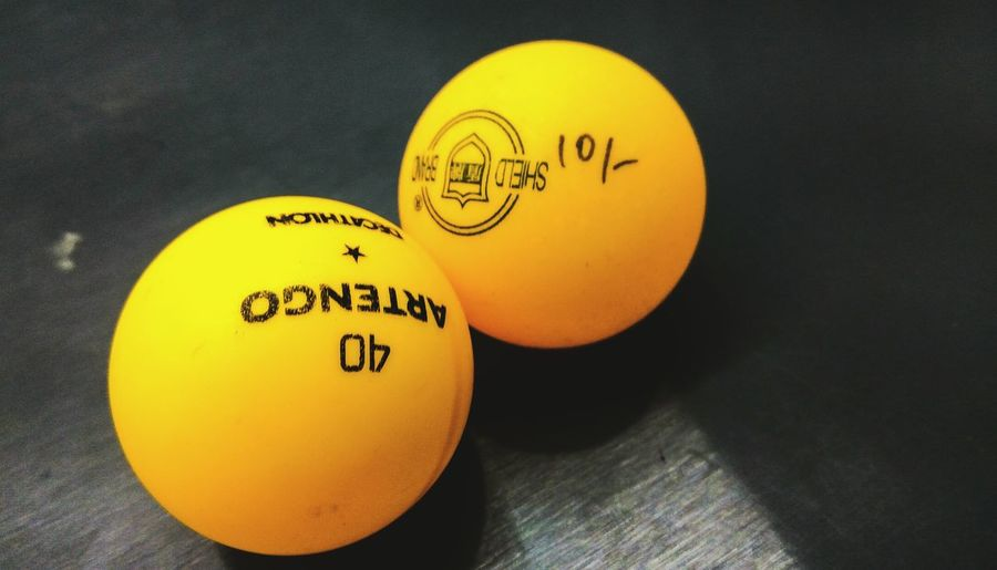 Paint The Town Yellow Yellow Indoors  Sport Ball Table Tennis Ball Tabletennis No People