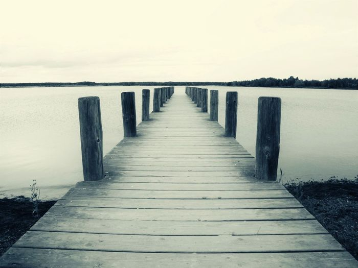 Satisfaction Wallendorfer See Beach Beauty In Nature Black And White Day Germany Horizon Over Water Lake Nature No People Outdoors Pier Sand Scenics Sea Silence Silence Of Nature Silent Moment Sky Tone Splitting Tranquil Scene Tranquility Water Wood - Material Wooden Post EyeEmNewHere
