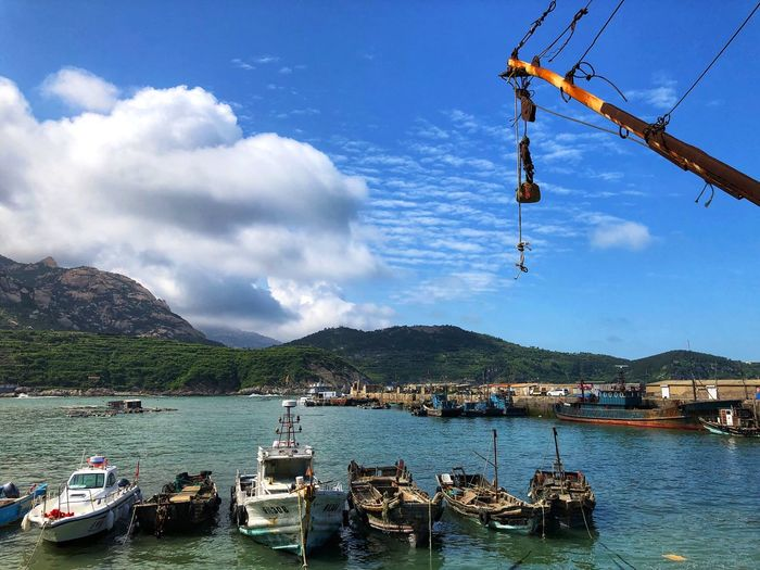 Water Transportation Nautical Vessel Mode Of Transportation Cloud - Sky Sky Nature Day Mountain Waterfront Sea Outdoors Beauty In Nature