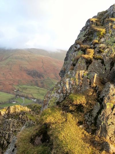 Helm Crag Mountain Landscape Outdoors Rural Scene Beauty In Nature