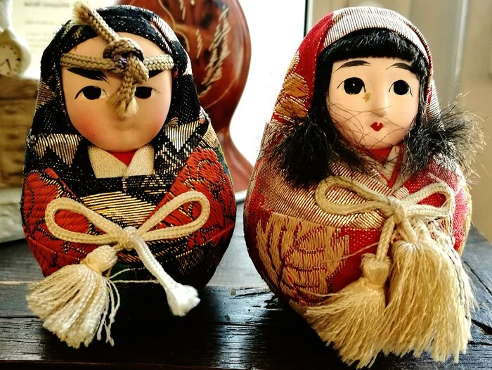 Indoors  No People Doll Close-up Day Japanese Figurines Figures Small Things Japanese Culture Couple