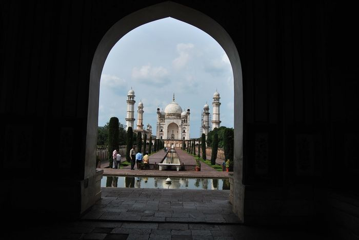 Arch Architecture Aurangabad Bibi Ka Maqbara Bibi-Ka-Maqbara (19°55' N; 75°15' E) Built Structure Dome Entrance Famous Place History Incredible India India Religion Tourism Travel Destinations