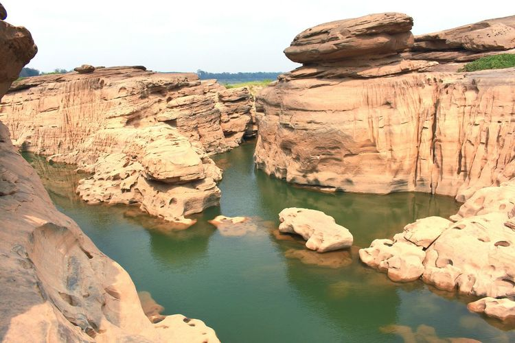 Landscape of Thailand Reflection Tree Outdoor Countryside Sky หินชมนภา Landscape Landmark Mountain Rocks And Water Water View Panoramic Panorama Photography Shoot Asian  Capture Nature Wild Sampunboke Thailand Ubonratchathani หาดชมดาว Water Cliff Rock - Object Rock Formation Desert Sky Landscape