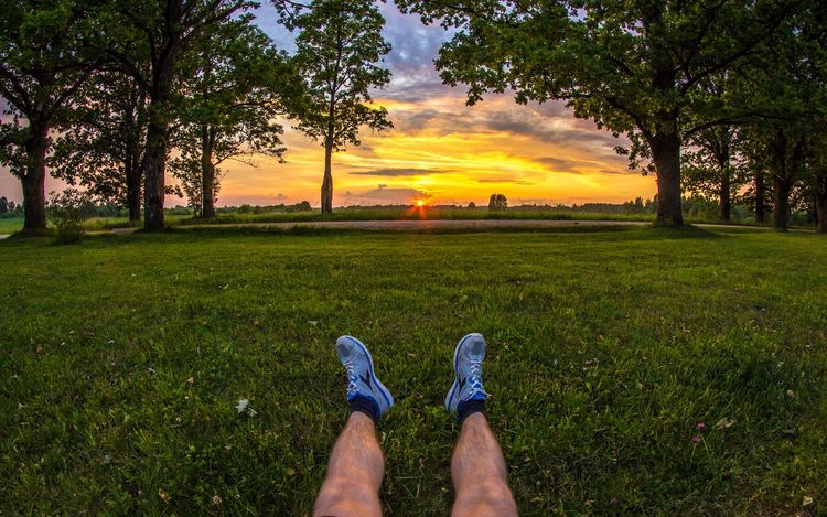 My home land - Latvia ♡ Leg Photos Sitting On The Ground Canon HDR Collection Cloud Growth Human Foot Relaxation Grassy Sky Green Color Lifestyles Personal Perspective Shoe Sunset Low Section Tree Person Field Meadow Latvian Landscape Photography Eos600d Samyang 8mm Leisure Activity