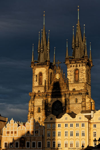 Church of Our Lady before Týn, Prague. Church Church Of Our Lady Before Tyn Church Of Our Lady Before Tyn Cityscape Czech Republic Old Town Prague Prague Czech Republic Prague Photography Architecture Belief Building Building Exterior Built Structure Built Structures City Gothic Style History Low Angle View Nature No People Old Outdoors Place Of Worship Religion Sky Spire  Spirituality The Past Tourism Tower Travel Travel Destinations