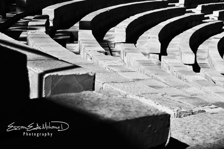 Abstract Black And White Abstractarchitecture Seats In Roman Theater