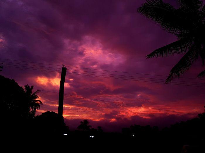 view outside my window. Easter sabbath. Sunset Tree Silhouette Dramatic Sky Oil Pump Dark Sky Landscape Cloud - Sky First Eyeem Photo