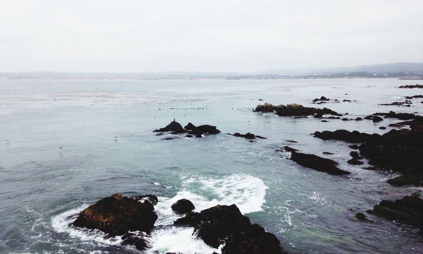 Horizon Waves Crash Water Sea Beauty In Nature Rock Scenics - Nature Sky