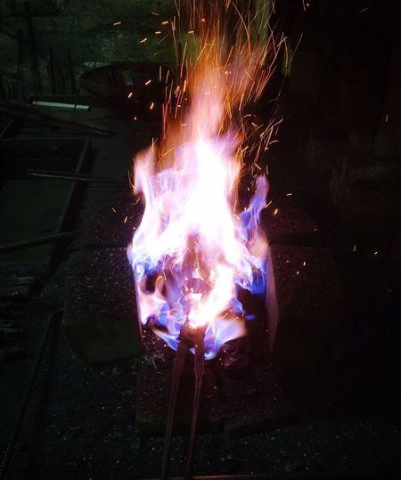 Flame Burning Glowing Heat - Temperature Illuminated No People