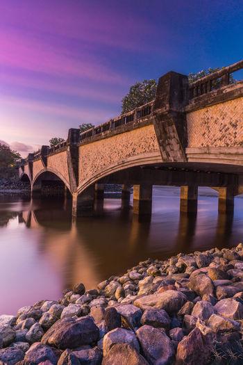 Serangan Bridge Sky Bridge - Man Made Structure Bridge Structure Water Sunset Stone Bali City Old Ruin