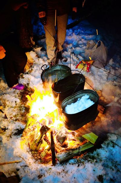 Belarus Traveling Night Forest Bonfire Ski Trip Campingtrip Camping Trip Hike Winter Hike Winter Trip Bivouac Camp Flame Burning Smoke - Physical Structure Heat - Temperature Outdoors Men People