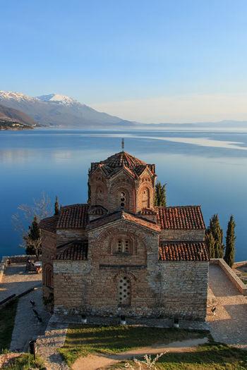 Church Of St John Kaneo By Lake Ohrid Against Sky