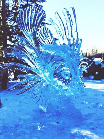 The Time Is Not Now, It's Right Now Ice Sculpture The Pursuit Of Happiness