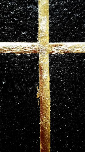 Cross Golden Black Background Black And Gold Golden Leaf Textures And Surfaces ArtWork Detail