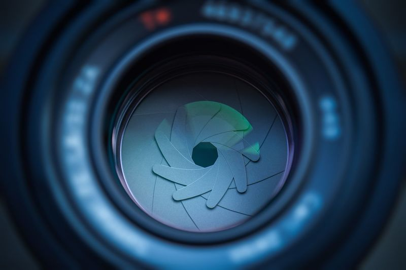 Mechanical eye Lens - Optical Instrument Camera - Photographic Equipment Close-up Circle Photography Themes Geometric Shape Technology Photographic Equipment Camera Lens - Eye Digital Camera Optical Instrument Glass - Material Selective Focus No People