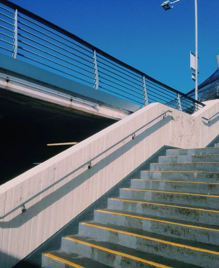 Stairs Blue Sky Blue Sky Blue Sky And Clouds Taking Photos Enjoying Life Check This Out VSCO Devon Torquay Light Vscocam Urban Spring Fever Colorful Perspective Sky And Clouds