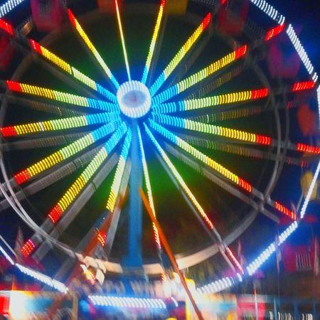 County Fair Ferris Wheel Nightimephotography