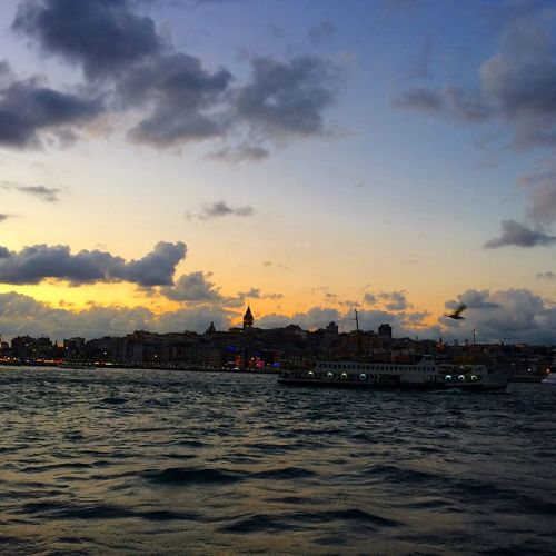 Bosphorus Sea And Sky Sunset Cloud And Sky