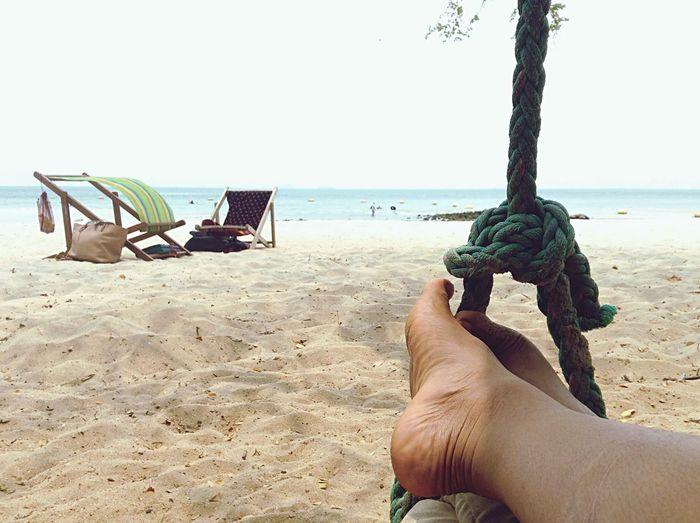 Swing Sea Vintage Alone Beach Sand ทะเล