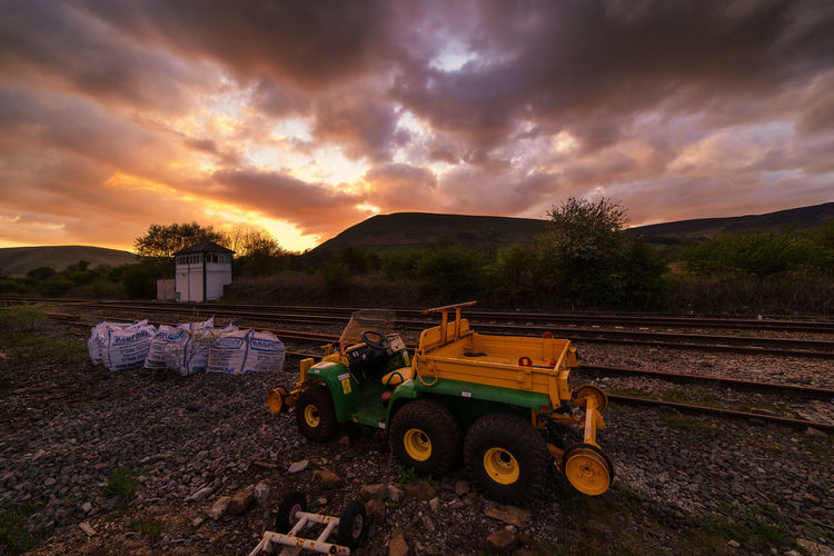 construction along the rail way. Sunset The Great Outdoors - 2016 EyeEm Awards Envision The Future Landscape Hello World Check This Out Adventure Skyporn The Great Outdoors With Adobe