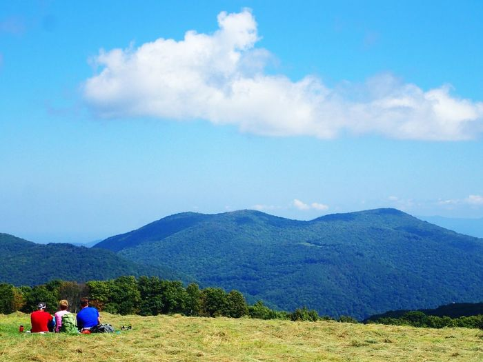 Appalachian Trail Appalachiantrail Bald Mountain Beauty In Nature Cloud - Sky Day Landscape Leisure Activity Lifestyles Mountain Mountain Range Nature Outdoors Relaxation Scenics Sitting Sky Togetherness Tranquility