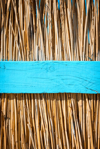 Full frame shot of blue wood
