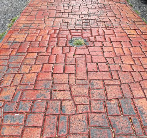 Cobblestone High Angle View Paving Stone Street Pedestrian Walkway Footpath Stone Material Multi Colored Greer, SC IPhoneography Southcarolinapictures MyPhotography Greersouthcarolina Greatergreenvillesc Yeahthatgreenville Sidewalk Creativity Surface Level Smalltown