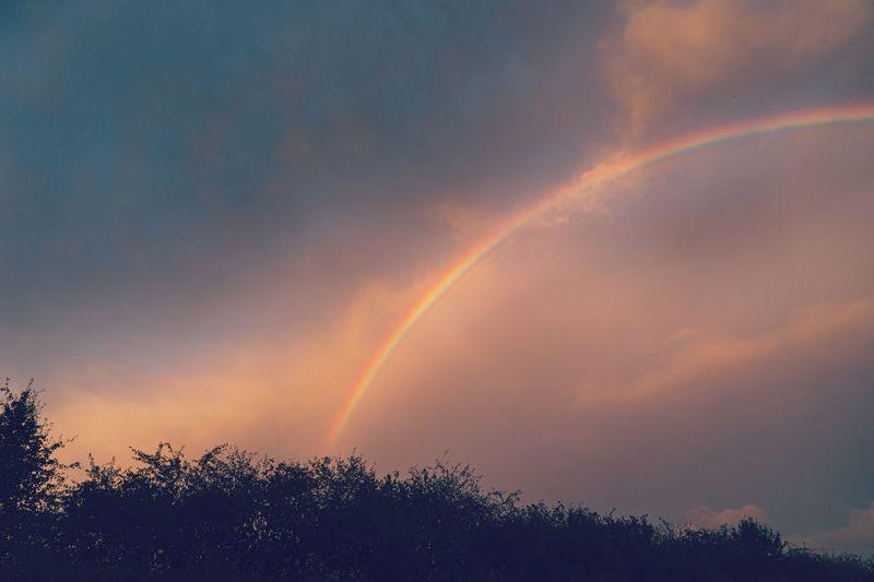 Rainbow during