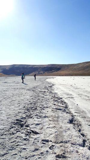 Mountain EyeEmNewHere Trip Salt - Mineral Clear Sky Desert Arid Climate Sand Dune Full Length Salt Flat Salt Lake FootPrint Dry Arid Landscape The Great Outdoors - 2018 EyeEm Awards