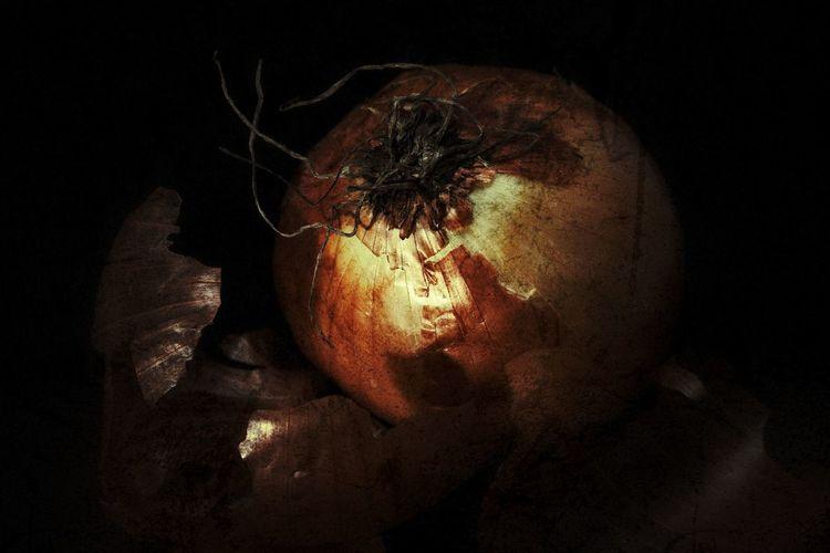 Digital composite image of fruit against black background