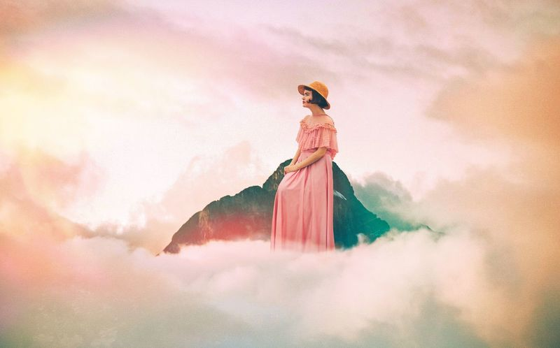 """Patience"" 2016 - WebmasterTroi Clouds And Sky Cloudporn Cloudcollection Manipulation Patience Ipadart IPad Edit Pinkdress Pink"