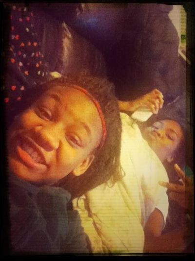 Me And My Cousin Seating Watching Tv