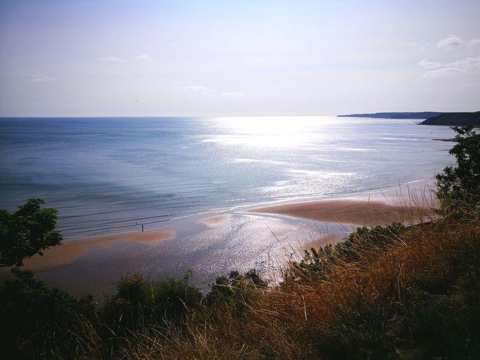 sea shine pt2 Sunrise Sunrise_sunsets_aroundworld Blue Sky Seascape Horizon Over Water Surf Calm Sandy Beach Headland Coastal Feature Tide Coast Shore Ocean