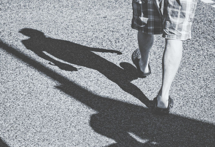 Day Focus On Shadow Human Foot Leisure Activity Lifestyles Low Section Outdoors Person Shadow Standing Street Streetphoto_bw Sunlight Sunny Walking