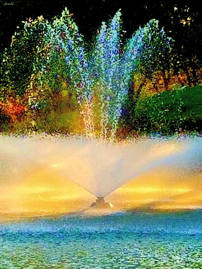 """The Week On EyeEm """"""""Today's water fountain canvas at the park"""" ⛲ Water Multi Colored Paint The Town Yellow Outdoors Nature Pond Beauty In Nature not my First Eyeem Photo Water Fountain From My Eyes To Yours Beauty EyeEm Best Edits The Way I See It Check This Out EyeEm Best Shots Best Eyeem Pics Taking Photos Eye4photography  EyeEm Gallery Sunrise Nature On Your Doorstep From My Point Of View Splash Splashing Colours in Sacramento, California (USA)"""