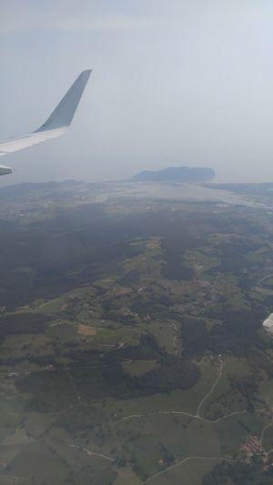 Aerial View Air Vehicle Aircraft Wing Airplane Airplane Wing Beauty In Nature Day Flying Journey Landscape Mid-air Nature Outdoors Santoña Scenics Sea And Sky Sky Transportation Travel