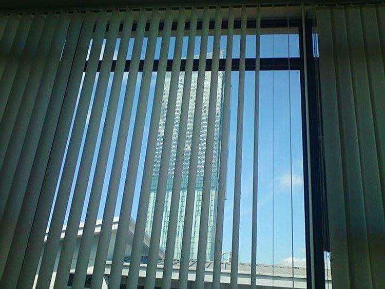 View Apartment View Building Hilton Hotel Manchester Blinds