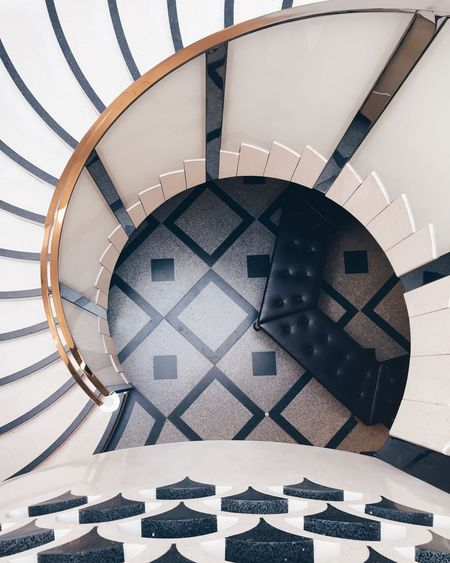 Architecture Black And White Built Structure Chess Board Day High Angle View Indoors  Little Color London Minimal Minimalism Minimalist Architecture Modern Architecture No People Railing Simplicity Spiral Spiral Staircase Staircase Steps Steps And Staircases Tate Britain The Architect - 2017 EyeEm Awards