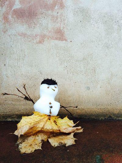 Kleiner Schneemann. Snow Winter Wintertime Snowman Schnee Schneemann